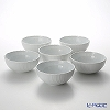 Richardsinori (Richard Ginori) Vecchio Bianco Assorted pots 17 cm set of 6