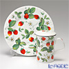 Roy Kirkham 'Alpine Strawberry (Fruit & Flower)' Mug, Plate (set of 2 for 1 person)