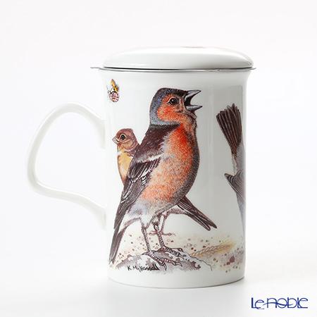 Roy Kirkham 'Garden Birds (Animal)' Green Mug with Infuser & Lid 320ml