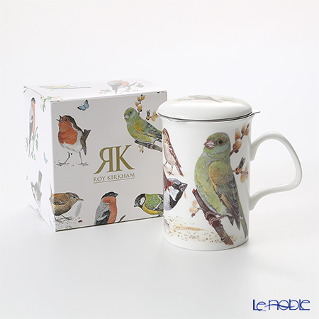 Roy Kirkham Garden Birds Infuser Mug, C-Green with gift box