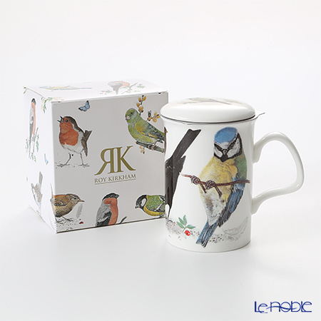Roy Kirkham Garden Birds Infuser Mug, A-Blue with gift box