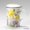Roy Kirkham English Meadow Infuser Mug, yellow with gift box