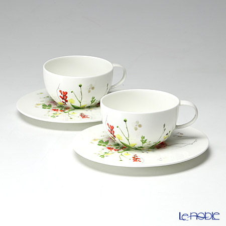 Rosenthal Brillance Fleurs Sauvages Tea-/Cappuccino cup & Saucer set of 2