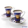 ローゼンタール ヴェルサーチ メデューサコーヒーカップ&ソーサー 180cc ブルー ペア