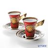 ローゼンタール ヴェルサーチ メデューサコーヒーカップ&ソーサー 180cc レッド ペア