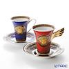 ローゼンタール ヴェルサーチ メデューサコーヒーカップ&ソーサー 180cc ペア レッド&ブルー