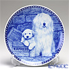 Dog Plate T/7397 Lakeland Terrier with hunger Wall Mount hooks with South Russian Sheepdog