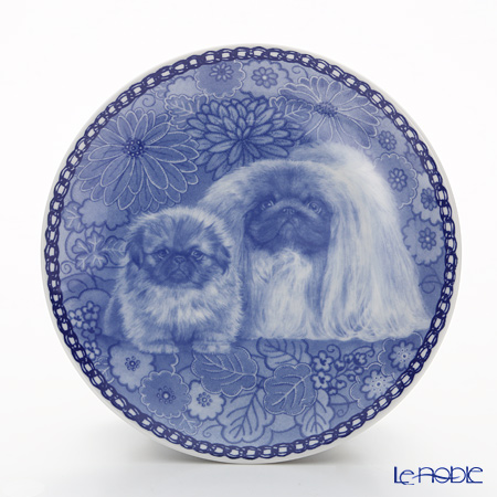 "Dog family T/3047 Plate Pekingese ""wall hook included"