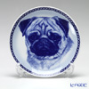 Dog Plate T/75644 Pug with hunger Wall Mount hooks with Pug