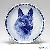 Dog Plate T/75645 German Shepherd Dog with hunger Wall Mount hooks with German Shepherd Dog