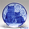 Scan Lekven 'Cat Family /  British Blue' 6008 Plate 19.5cm
