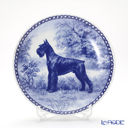 "Dog plate T/7198 Schnauzer giant ""wall hook included"