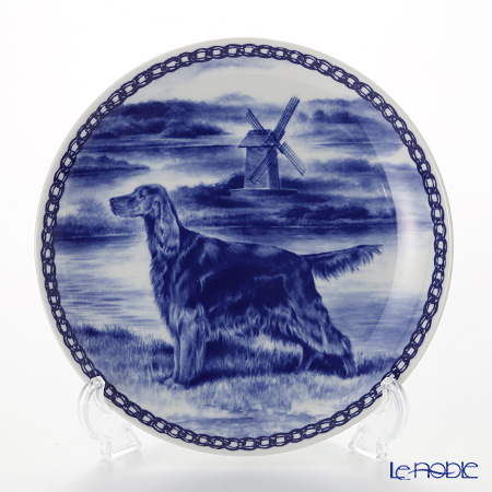 "Dog plate T/7232 Irish setter ""wall hook included"