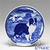 Dog  Plate T/7421 Border collie plate with hunger Wall Mount hooks with Border Collie
