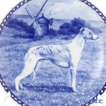 """Dog plate T/7423 Whippet """"wall hook included"""