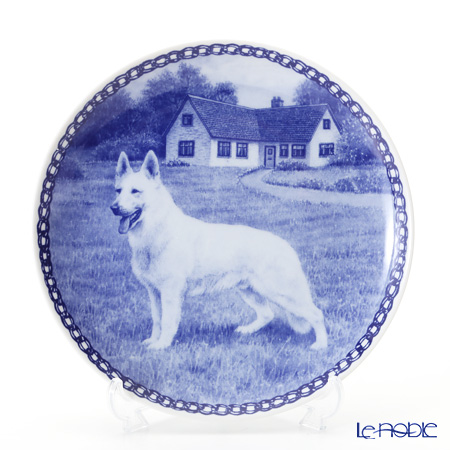 """Dog plate T/7429 White Shepherd """"wall hook included"""