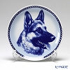 Dog Plate T/7501 German Shepherd Dog with hunger Wall Mount hooks with German Shepherd Dog