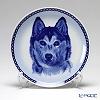 Dog & Cat Plate San-Lekven Design Dog Plate T/7545 Siberian Husky with hunger Wall Mount hooks with Siberian Huskies