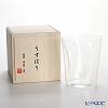 Shotoku Glass Usuhari Shiwa Old Fashioned (L) with wooden box