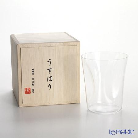 Shotoku Glass 'Usuhari - Shiwa Crinkled' OF Tumbler 280ml (M / with wooden box)