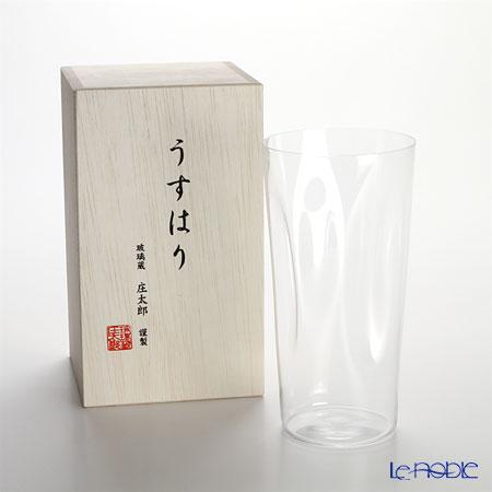 Shotoku Glass 'Usuhari - Shiwa Crinkled' Tumbler 480ml (LL / with wooden box)