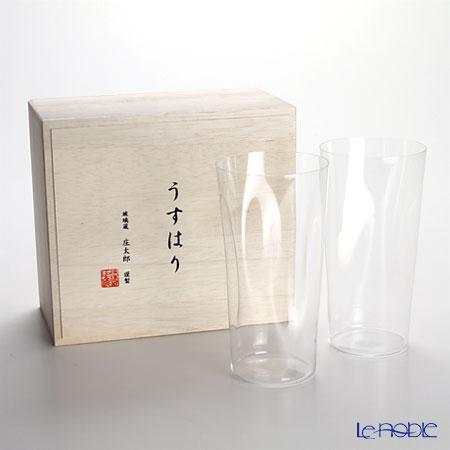 松徳硝子 うすはり SHIWA タンブラー(LL) ペア 【木箱入】