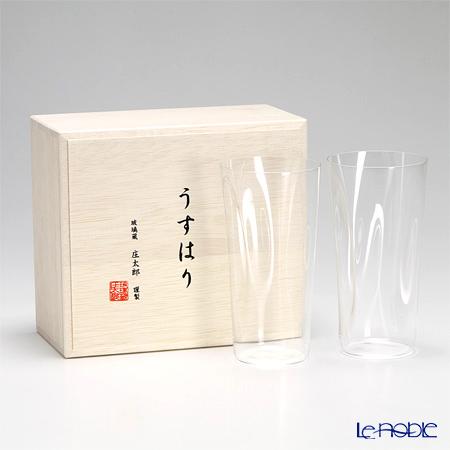 松徳硝子 うすはり SHIWA タンブラー(L) ペア 【木箱入】