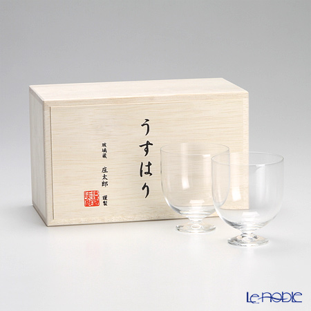松徳硝子 うすはりワイン(S) ペア 【木箱入】
