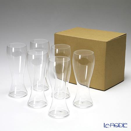 Shotoku Glass Usuhari  Beer Pilsner SC 2501001 6 pieces with service box