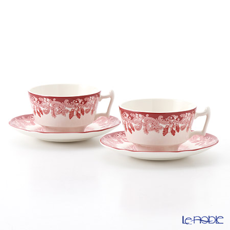 Spode Winter's Scene Tea Cup & Saucer set of 2