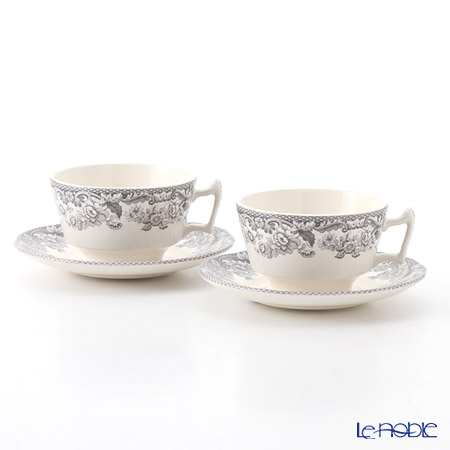 Spode Delamere Rural Tea Cup & Saucer 0.2 ltr set of 2