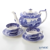 Spode Blue Italian Teacup & Saucer (Set of 2) with Teapot