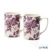 Spode 'Kingsley' White & Purple Mug 350ml (set of 2)