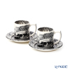 Spod 'Black Italian' [250th Anniversary Collection] Espresso Coffee Cup & Saucer 90ml (set of 2)