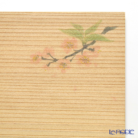 Takano Chikko / Cedar & Bamboo Craft 'Sakura / Cherry Blossom Flower' Square Flat Plate & Sweets Toothpick (set of 10 for 5 person)