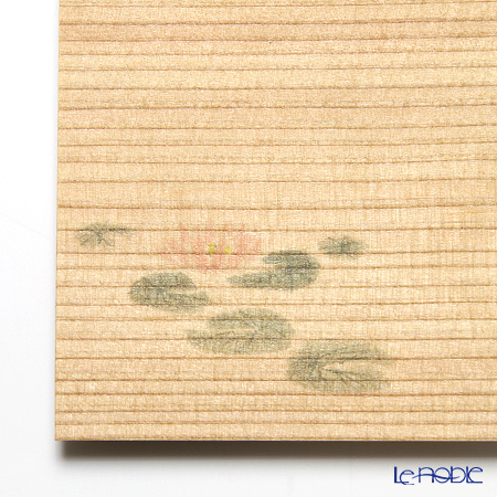Takano Chikko / Cedar & Bamboo Craft 'Lotus Flower' Square Flat Plate & Sweets Toothpick (set of 10 for 5 person)
