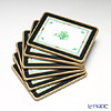 Lady clare A green ( Herend  Square coaster-set of 6