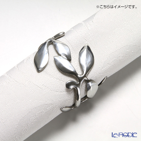 Loyfar 'Climber Leaf' [Pewter] Napkin Ring (set of 5)