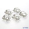 Asian goods Loyfar napkin ring set 5 pieces Ivy 3 x 5 x 4.5 cm NK032S pewter