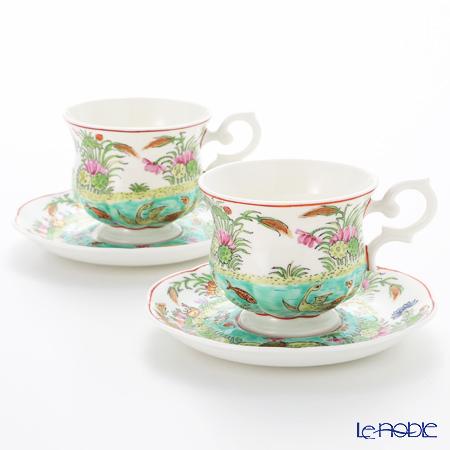 Pinsuwan Benjarong 'Kung Hoi Pu Pla / Sea View' Tea Cup & Saucer (set of 2)