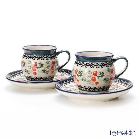 ポーリッシュポタリー(ポーランド陶器) ボレスワヴィエツ コーヒーカップ&ソーサー 160ml 913/710/DU158 ペア