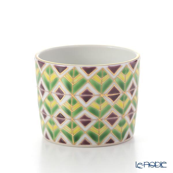 Kyo ware / Kiyomizu ware 'Sai Mangekyomon' K0993 Sake / Tea Container & Cup (set of 3)
