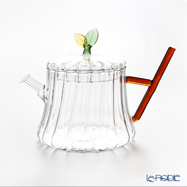 Ickendorf 'Greenwood - Leaf Bunch' Green & Yellow Tea Pot, Sugar Pot, Creamer (set of 3)