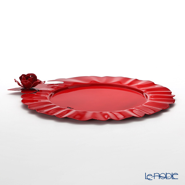 Arti & Mestieri 'Rose Bouquet' Red Charger Plate 34cm (set of 2)