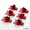 Arti-et-mastery rose bouquet Napkin holder Red 6 piece set steel