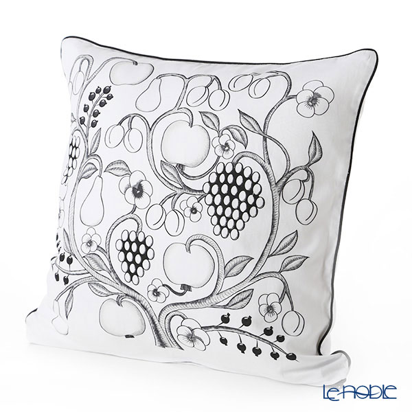 Kuovi 'Paratiisi Orchard' Black Cushion Cover (Cotton 100%) with Cushion