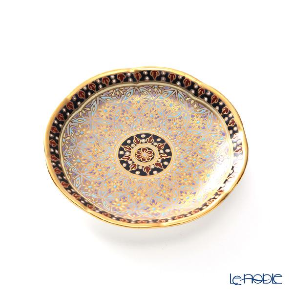 Buran Benjarong 'Krachan Gray' Tea Cup & Saucer, Mini Plate (set of 2)