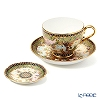 Buran Benjarong 'Thai Elephant' Tea Cup & Saucer, Mini Plate (set of 2)