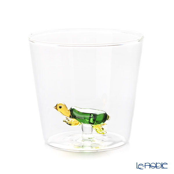 Ichendorf 'Greenwood - Animal Farm / Turtle' Amber Yellow & Green Tumbler & Pitcher Jug (set of 2)