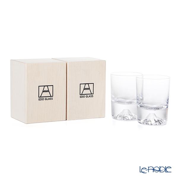 【伝統工芸】田島硝子 富士山グラス 冷酒グラス/ショットグラス 90ml ペア TG20-015-CS 【田嶌】【Fujiグラス】